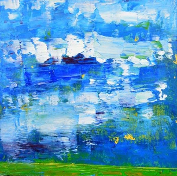 """Landscape No 66"" original fine art by Katie Jeanne Wood"