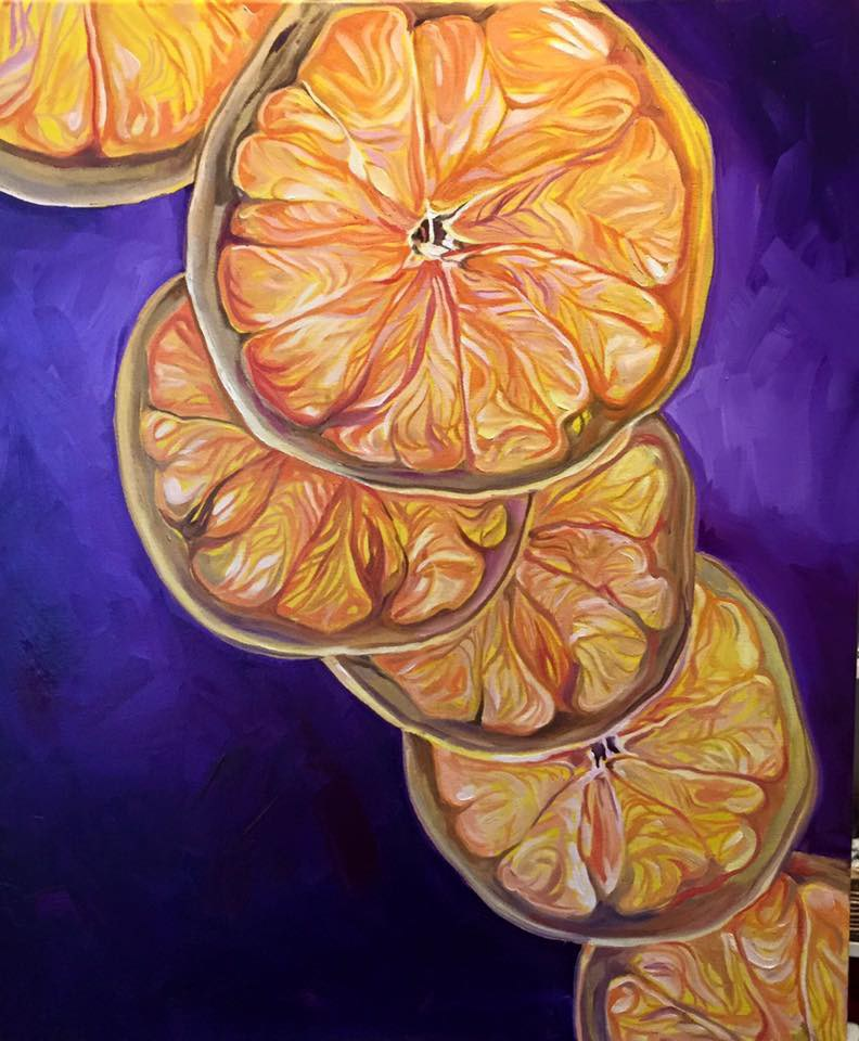 """Citrus Ascension"" original fine art by Lauren Kuhn"