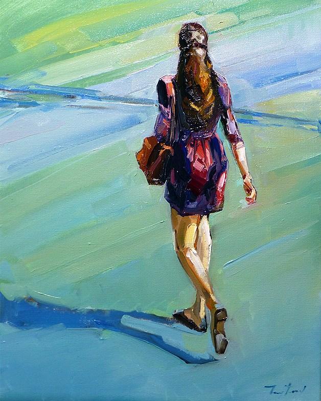 """going"" original fine art by Jurij Frey"