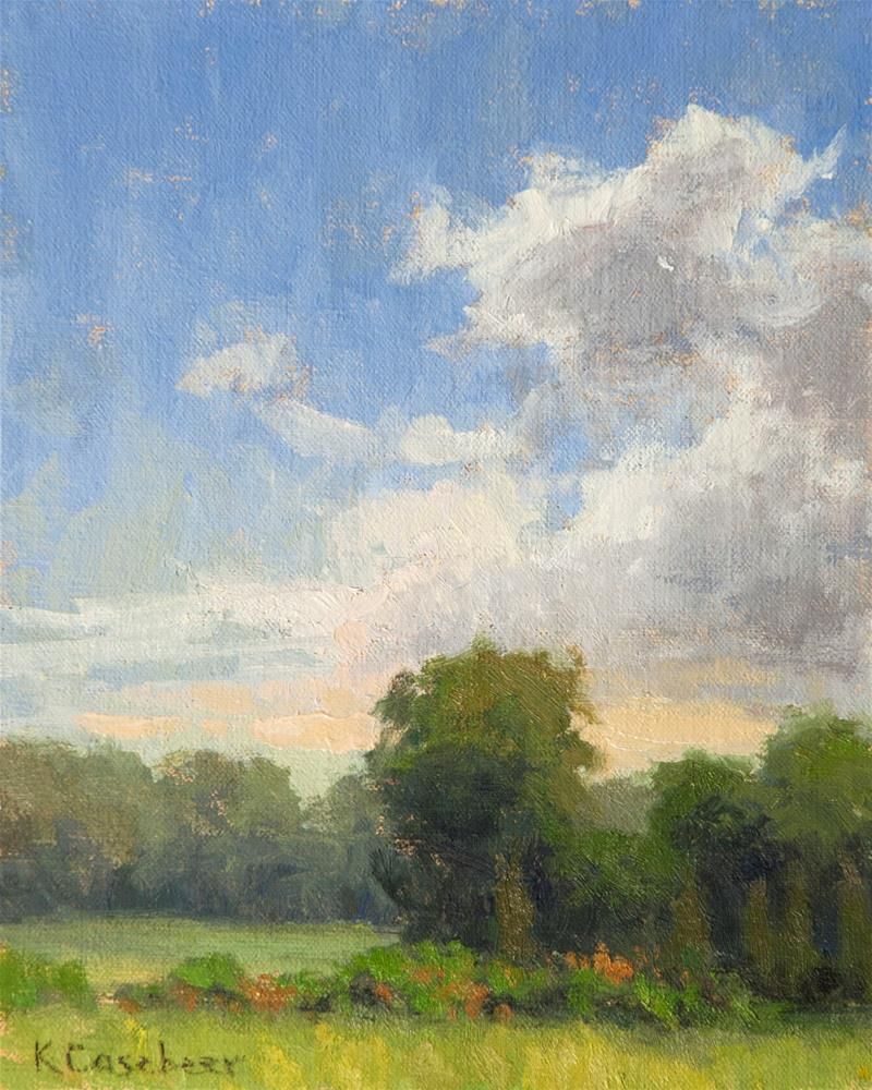 """Sunny Day, Will Rogers Garden"" original fine art by Kim Casebeer"