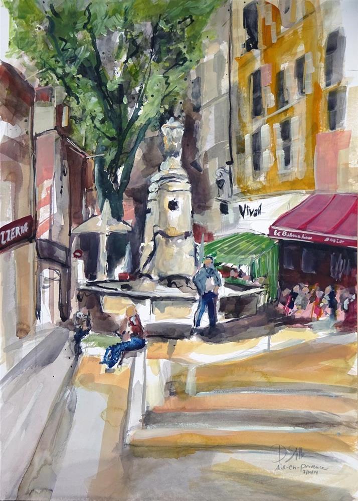"""""""1147 Aix-en-Provence"""" original fine art by Dietmar Stiller"""