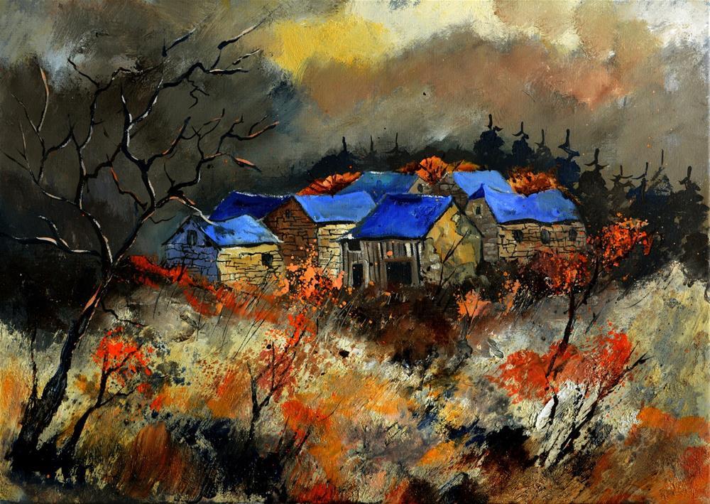 """""""Autumn 5751"""" original fine art by Pol Ledent"""