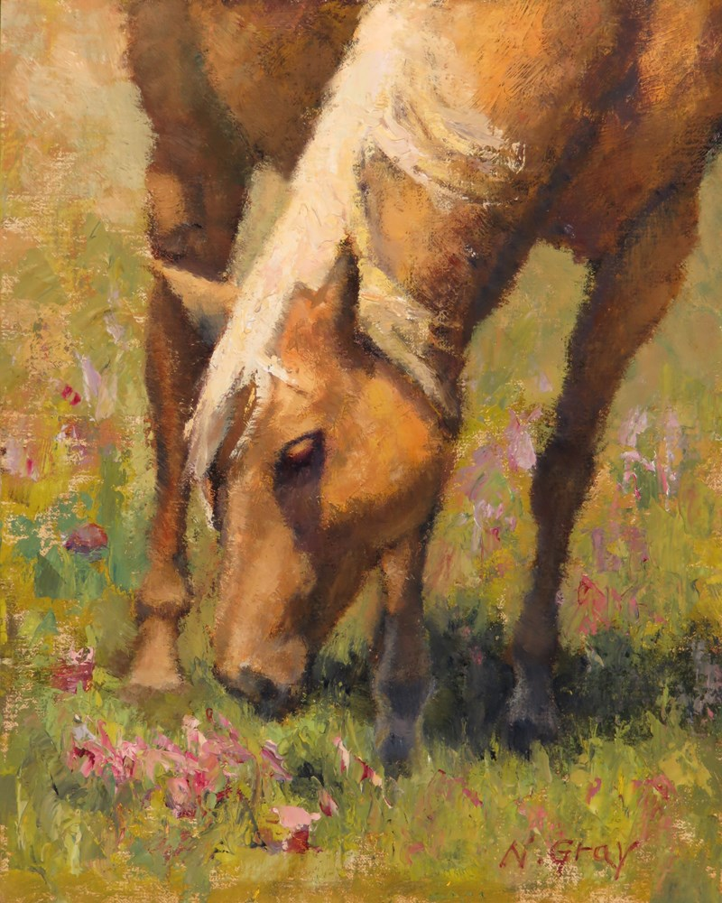 """Blondie the Horse No. 2"" original fine art by Naomi Gray"