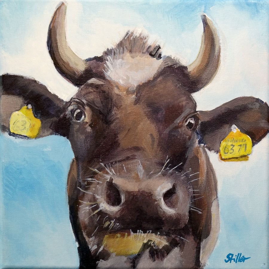 """1875 Haute Cowture"" original fine art by Dietmar Stiller"