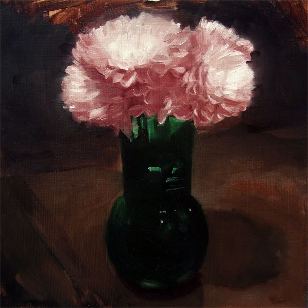 """Pink Chrysanthemums (no.50)"" original fine art by Michael William"