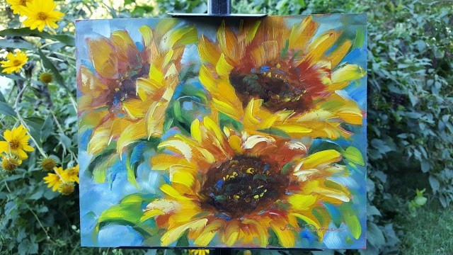 """Sunflower Song"" original fine art by Tammie Dickerson"