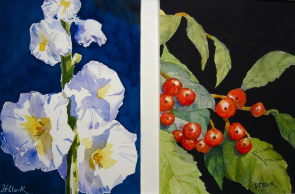 """Two Tiny Seasons: Summer -- Autumn"" original fine art by Judith Freeman Clark"