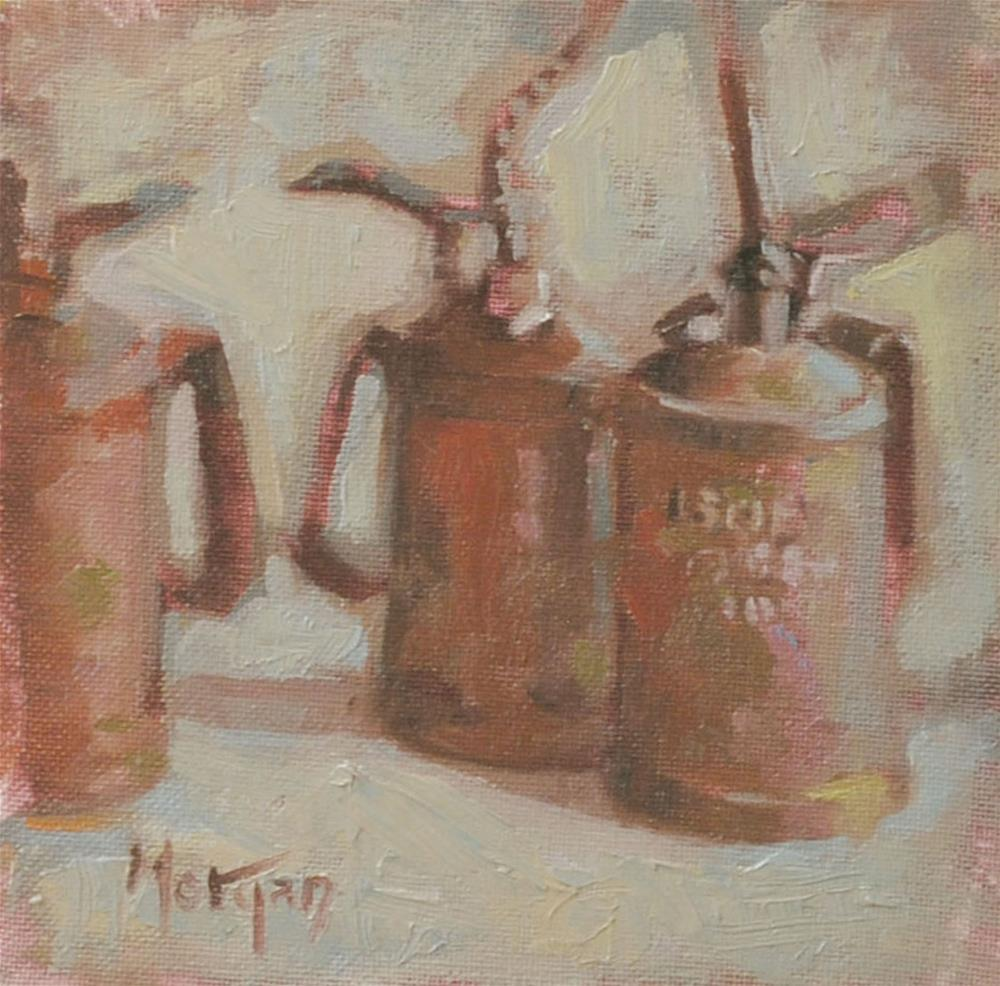 """Oil Cans"" original fine art by Cecile W. Morgan"