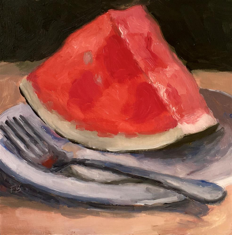 """060 Watermelon"" original fine art by Fred Bell"