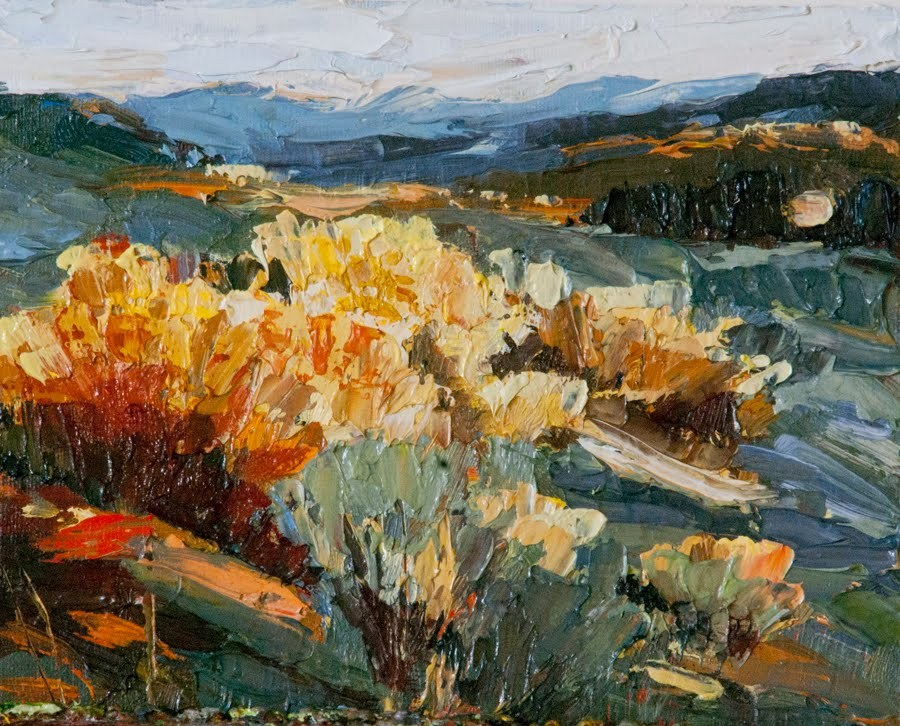 """KM2843 Illumination by Colorado artist Kit Hevron Mahoney (8x10, landscape, oil painting)"" original fine art by Kit Hevron Mahoney"