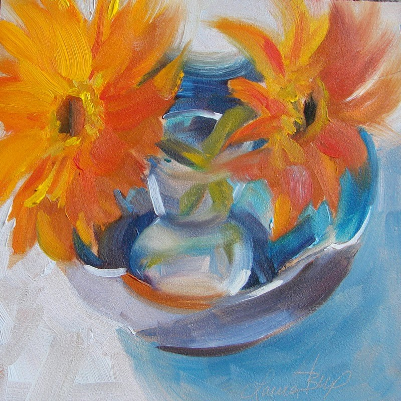 """New Bowl - 194"" original fine art by Laura  Buxo"