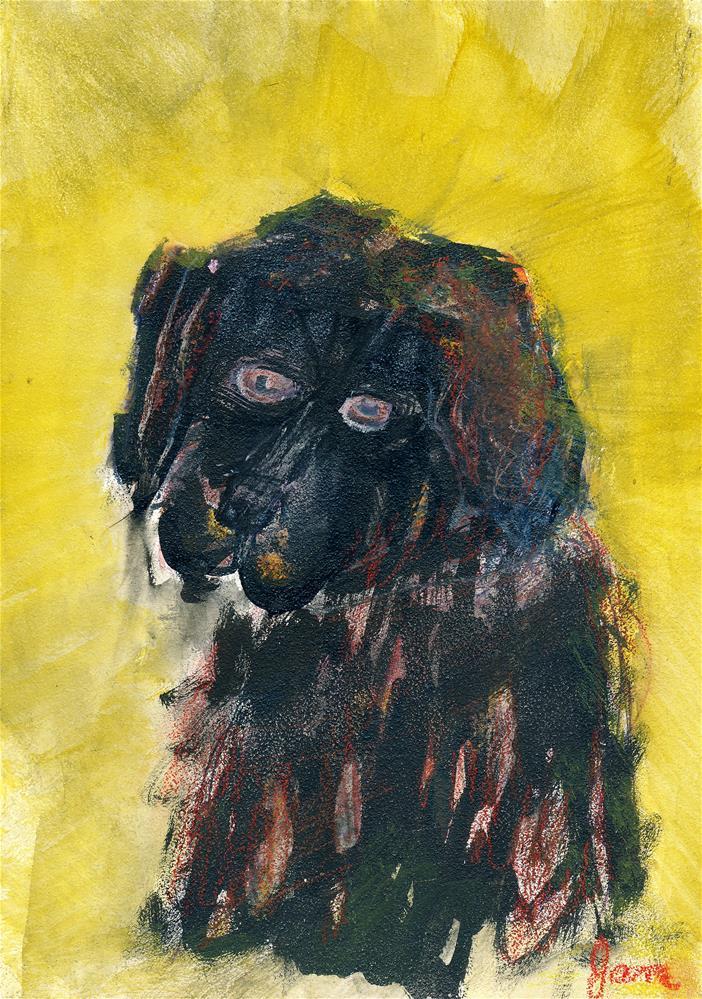 """""""Charlie"""" original fine art by Janet Gunderson"""