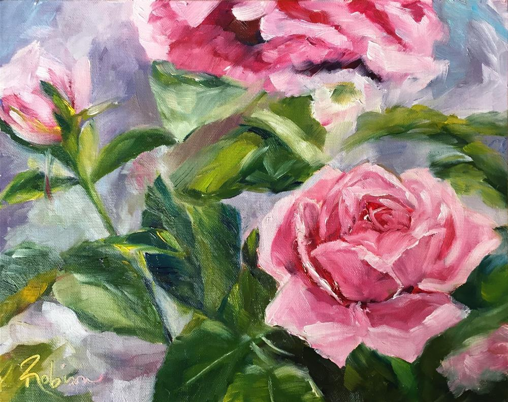 """Rose Study:  9 of 10"" original fine art by Renee Robison"