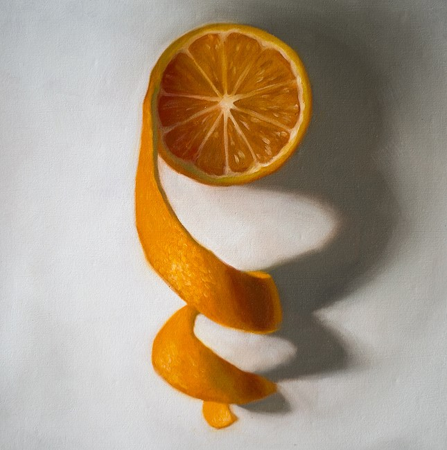 """Unwinding Orange #3"" original fine art by Lauren Pretorius"