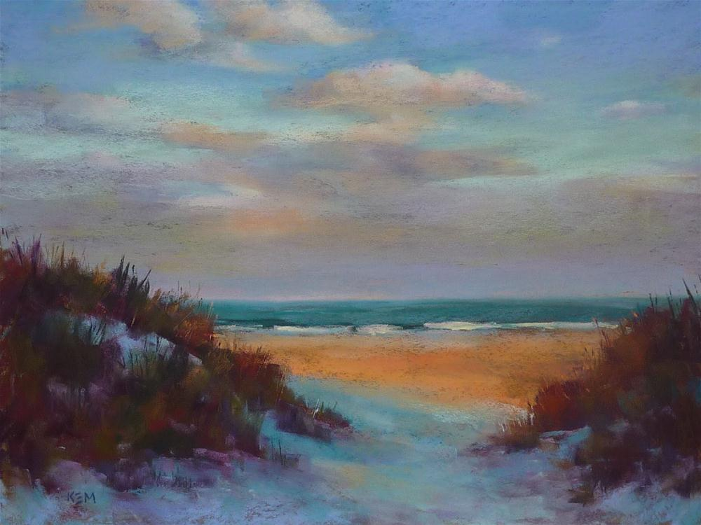 """Beach Week ...Exaggerating Temperature in a Painitng"" original fine art by Karen Margulis"