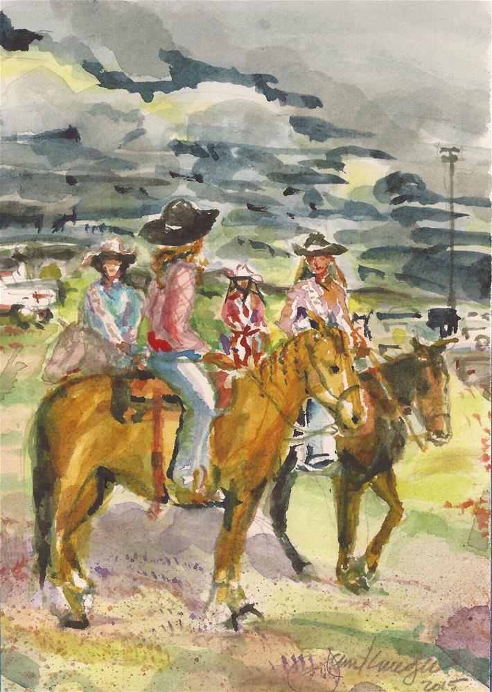 """Rodeo Gals"" original fine art by jean krueger"