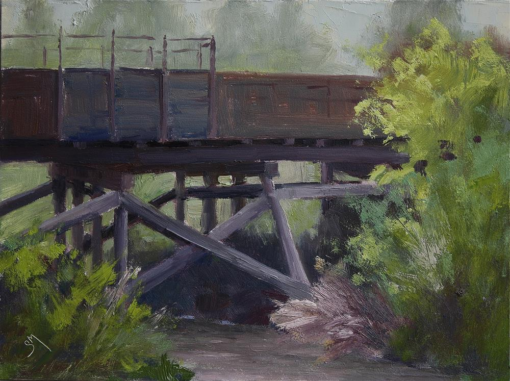 """River Crossing "" original fine art by Sheila Marie"
