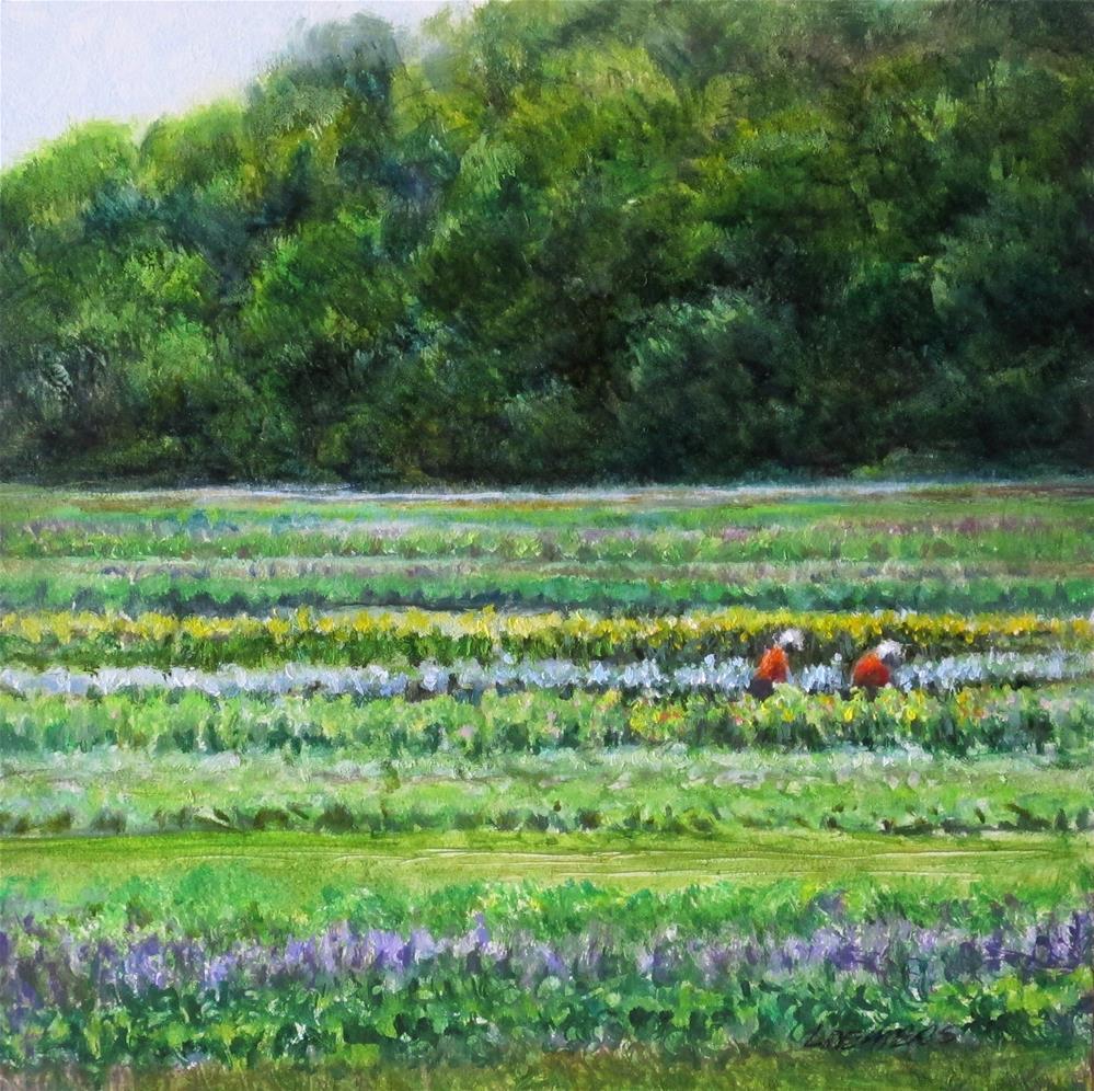 """Farm Workers"" original fine art by Linda Demers"