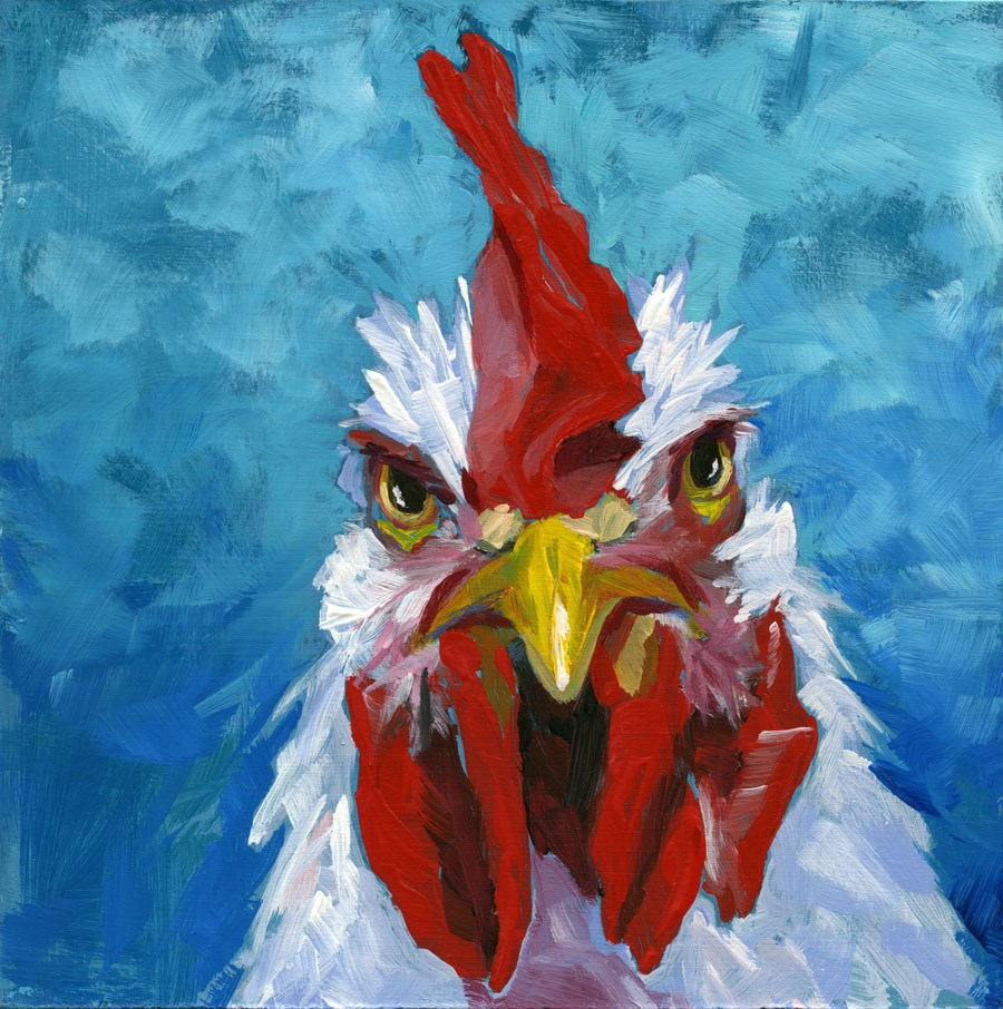 """The Stare"" original fine art by Eileen Hennemann"