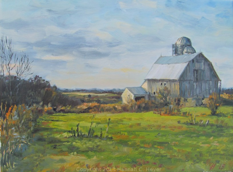 """Wolters' Barn"" original fine art by Hannah C. Heyer"