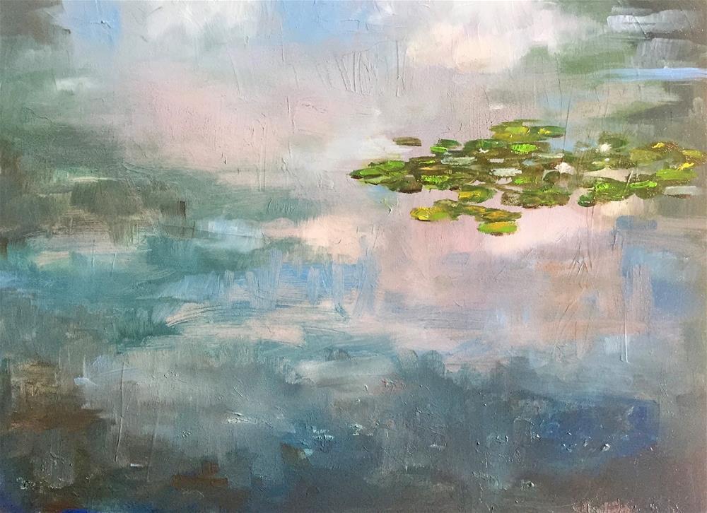 """""""Japanese Garden Pond"""" original fine art by Gary Bruton"""