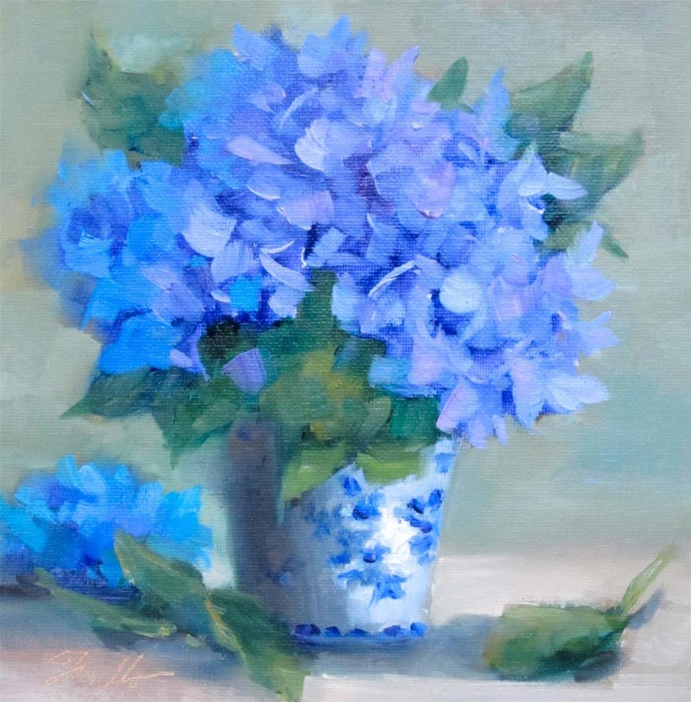 """Blue & White"" original fine art by Pat Fiorello"