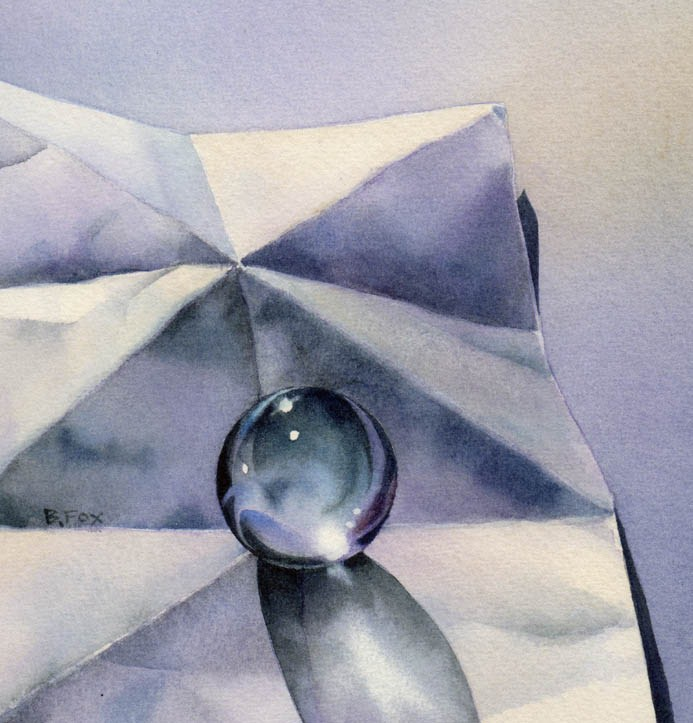 """A BALANCE OF GREY watercolor still life painting"" original fine art by Barbara Fox"