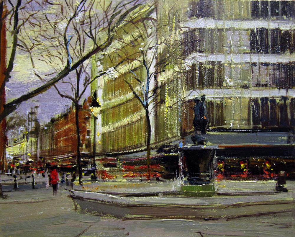 """That Christmas Feeling, Sloane Square"" original fine art by Adebanji Alade"