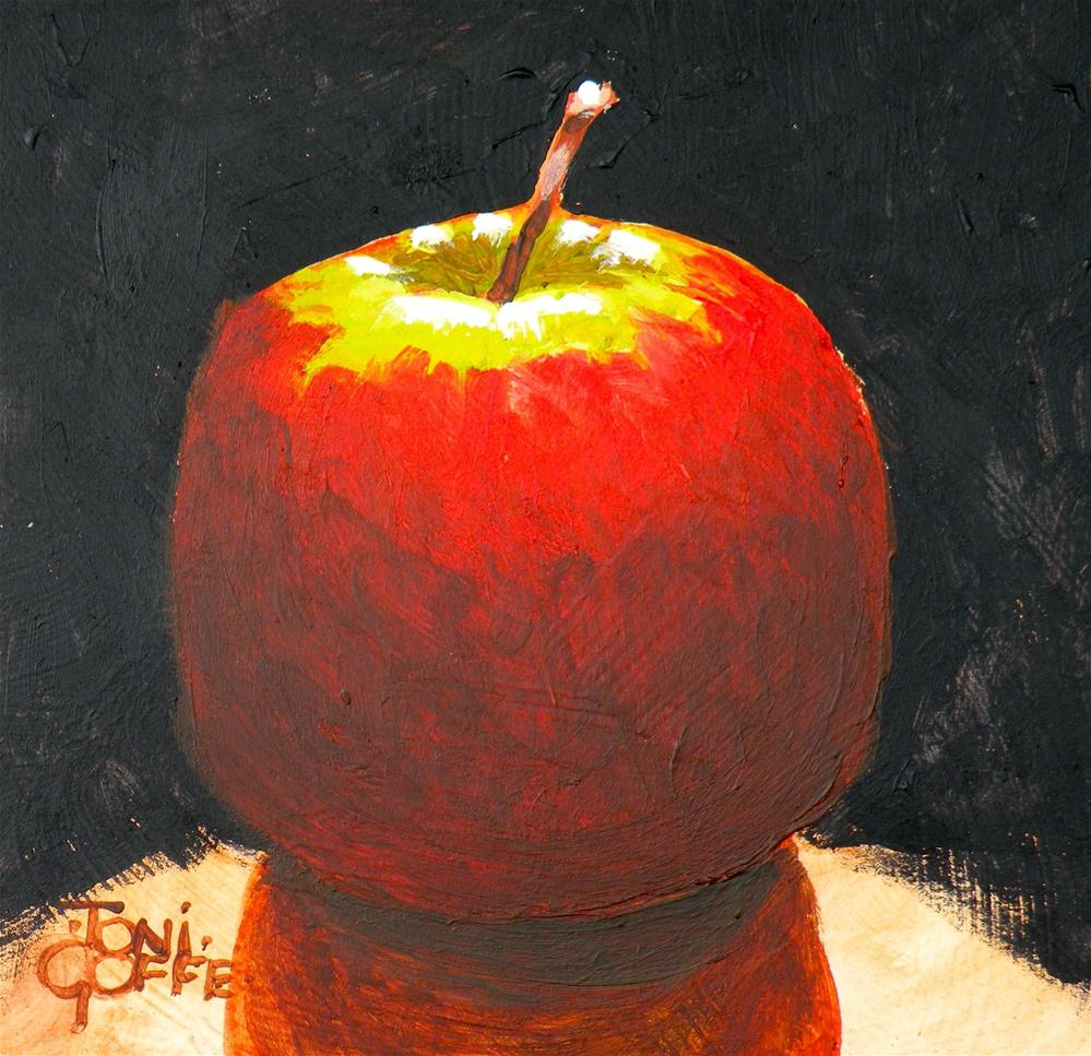 """Spotlit Apple"" original fine art by Toni Goffe"