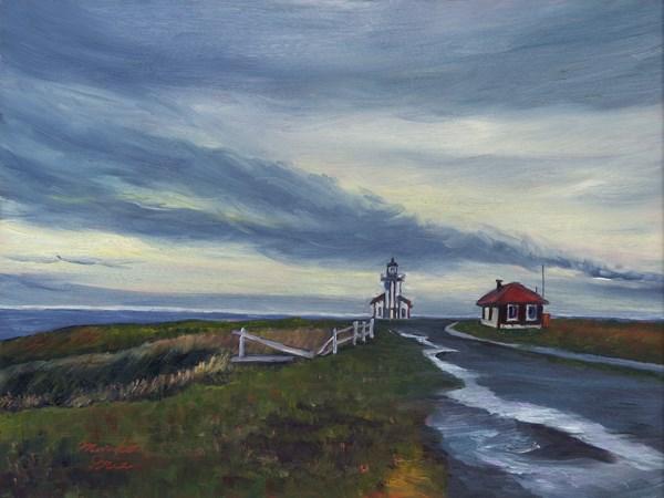 """After Rain at the Lighthouse"" original fine art by Mariko Irie"