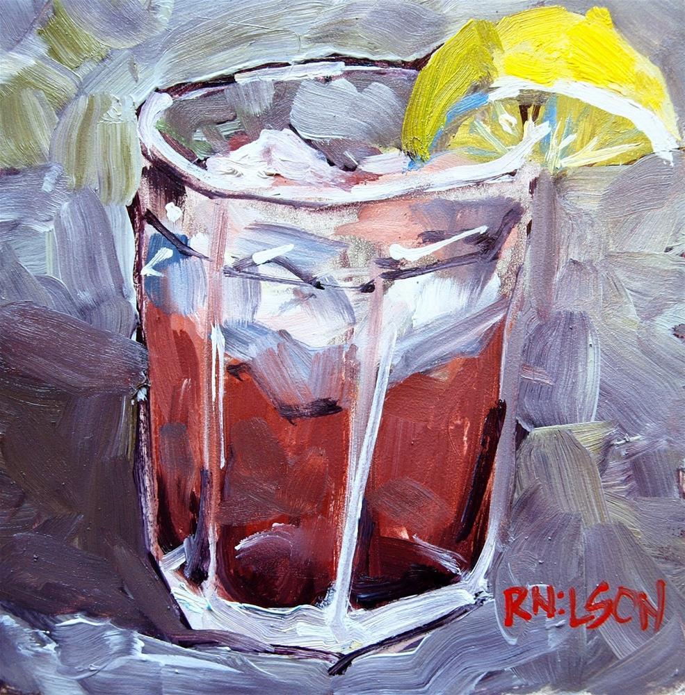 """Refreshment"" original fine art by Rick Nilson"