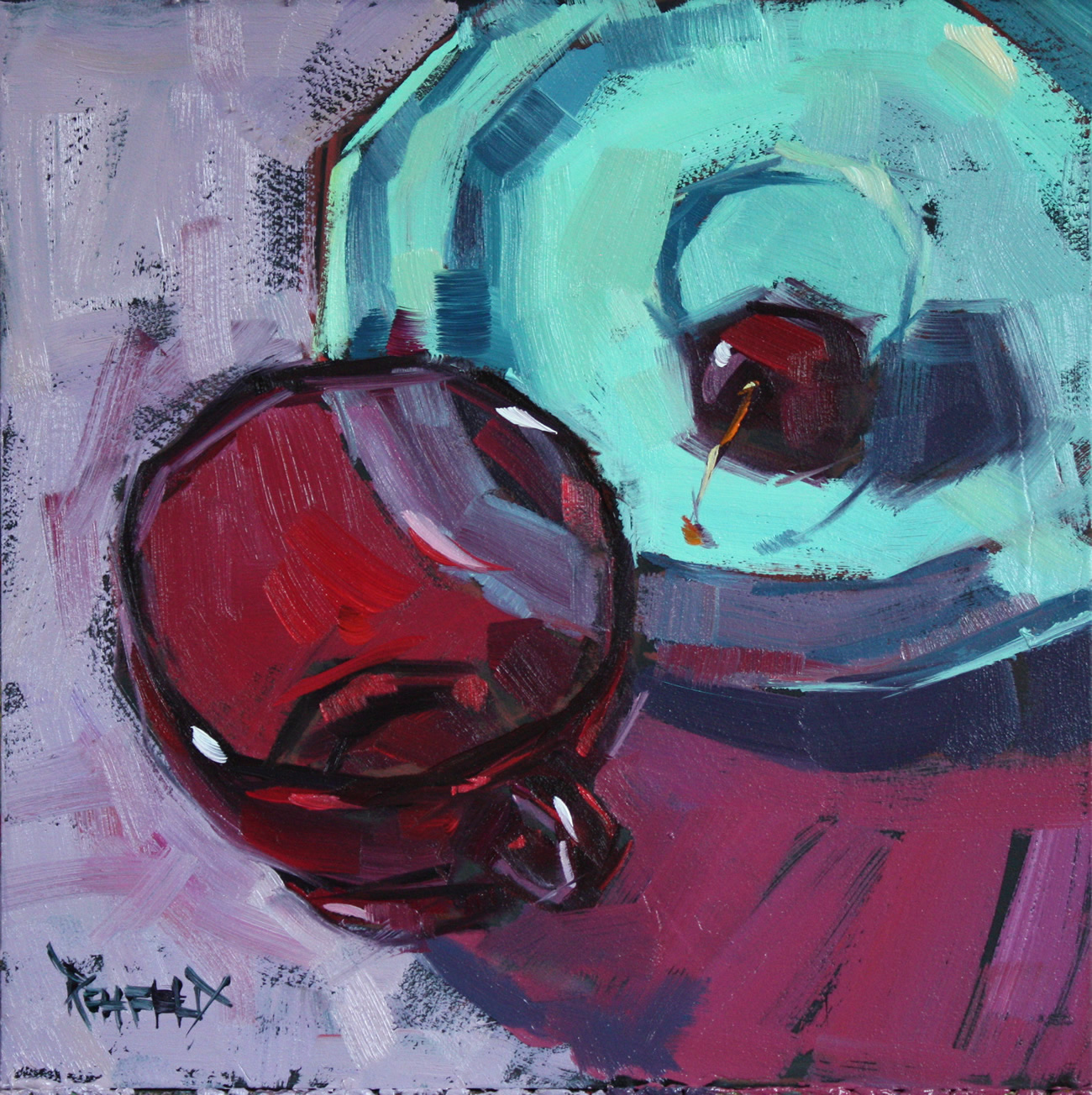 """Ruby Glass"" original fine art by Cathleen Rehfeld"