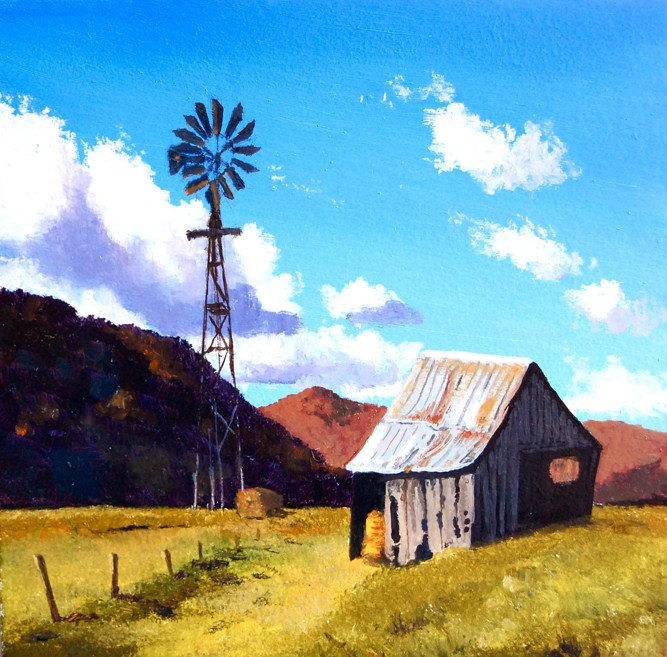 """STILL STANDING"" original fine art by Gerald Schwartz"