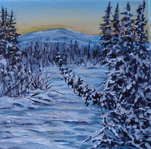 """Winter Series 2015, No. 3"" original fine art by Jackie Irvine"