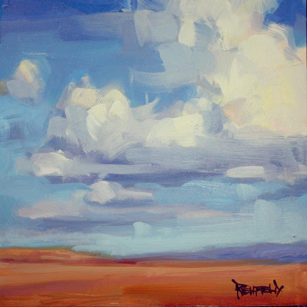 """Oregon Desert Clouds"" original fine art by Cathleen Rehfeld"