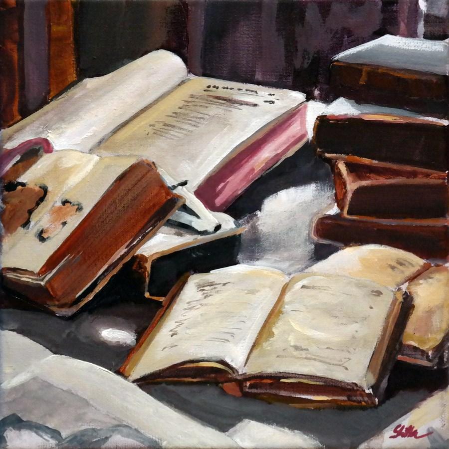 """""""1526 For Booksworms"""" original fine art by Dietmar Stiller"""