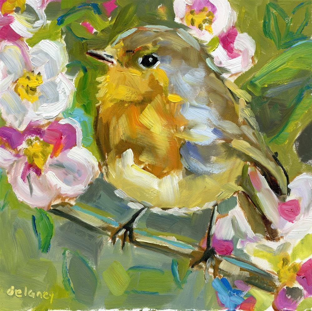 """""""SWEET PEA"""" original fine art by Jean Delaney"""