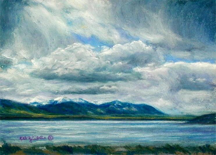 """Mountain Plunge"" original fine art by Carol Zirkle"