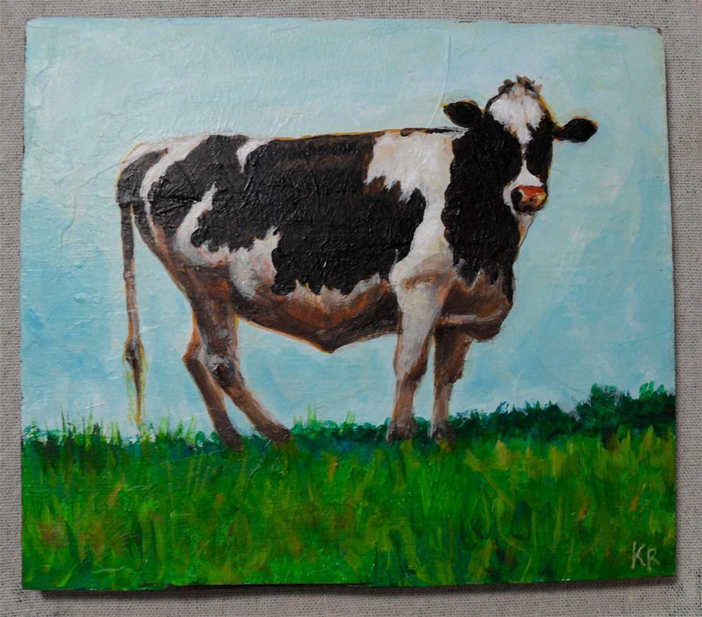 """""""Yoo Hoo Moo"""" original fine art by Karen Roncari"""