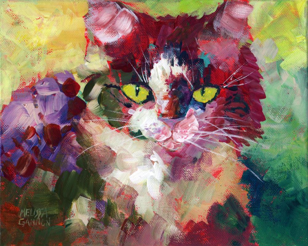 """Fluffy Attitude"" original fine art by Melissa Gannon"