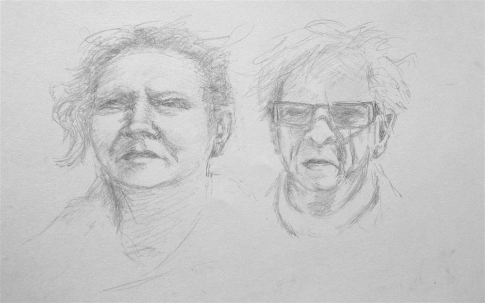 """""""Portrait challenge"""" original fine art by Steinunn Einarsdottir"""