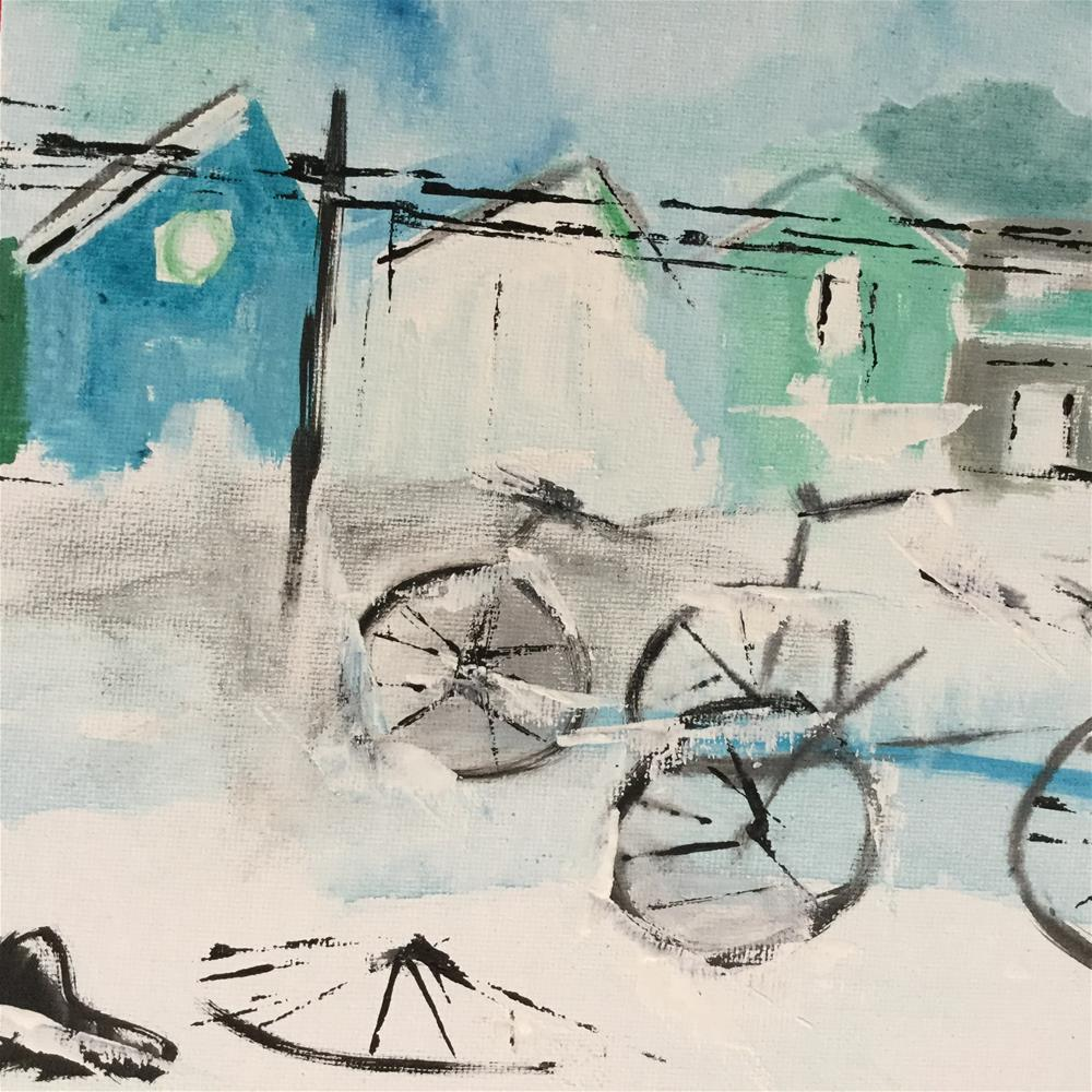 """Bermuda for Delle"" original fine art by pamela kish"