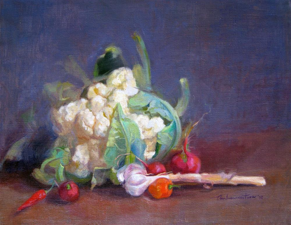 """Cauliflower"" original fine art by Ann Buenaventura"
