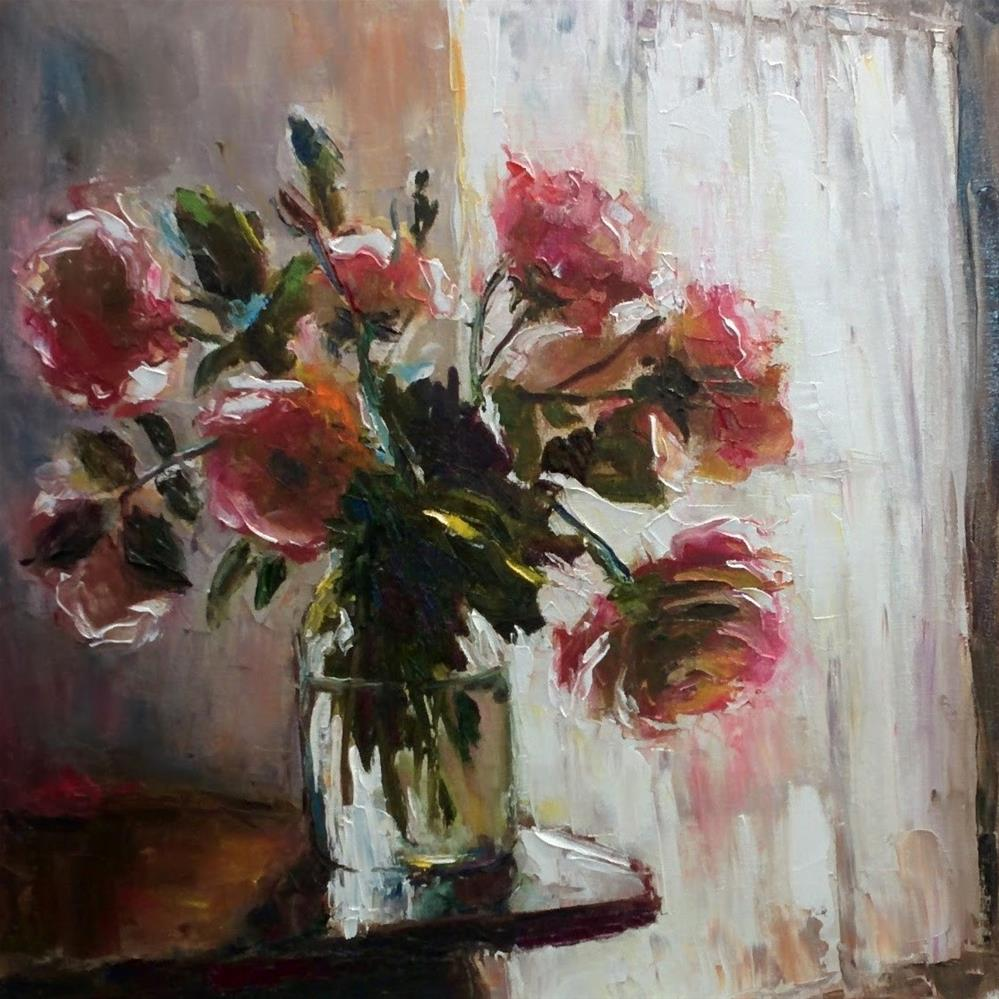 """Once More Roses"" original fine art by pepa sand"