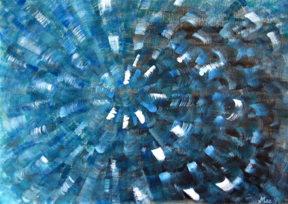 """Deep Blue"" original fine art by Alina Frent"