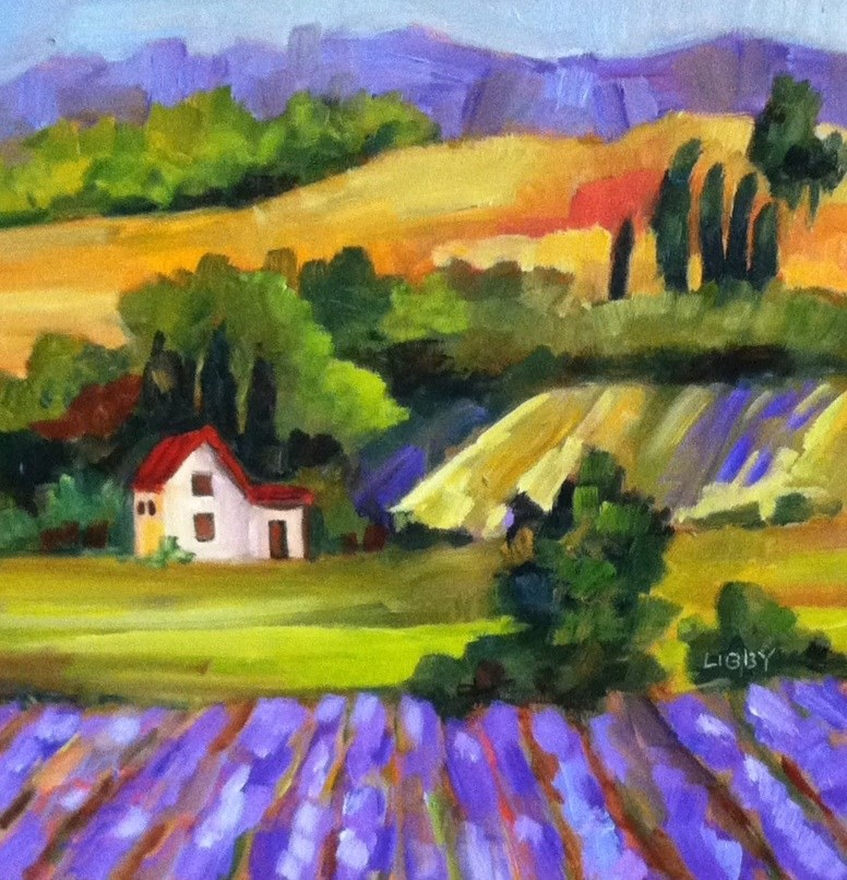 """Lavender Dream"" original fine art by Libby Anderson"