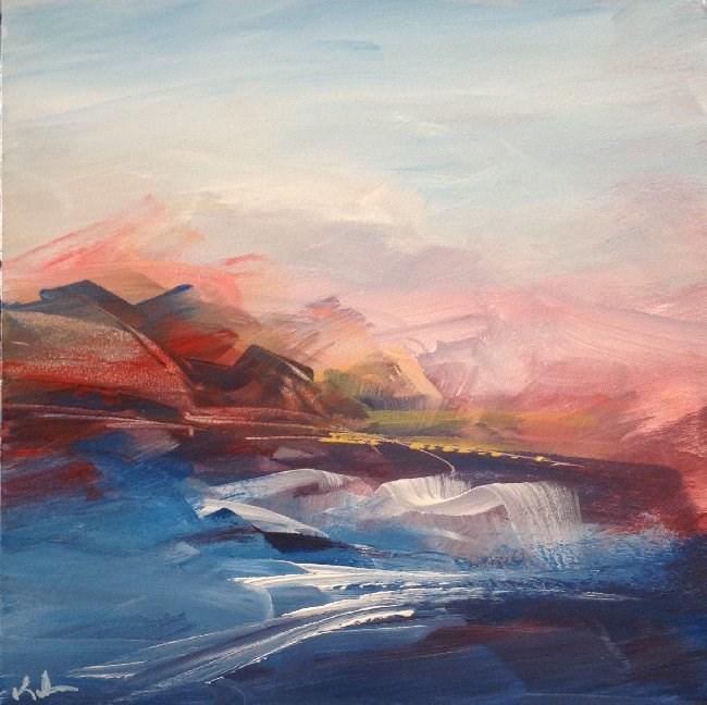 """Sky and Sea"" original fine art by David Kuhn"