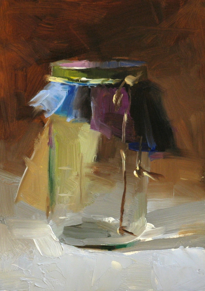 """Bottle Study"" original fine art by Qiang Huang"
