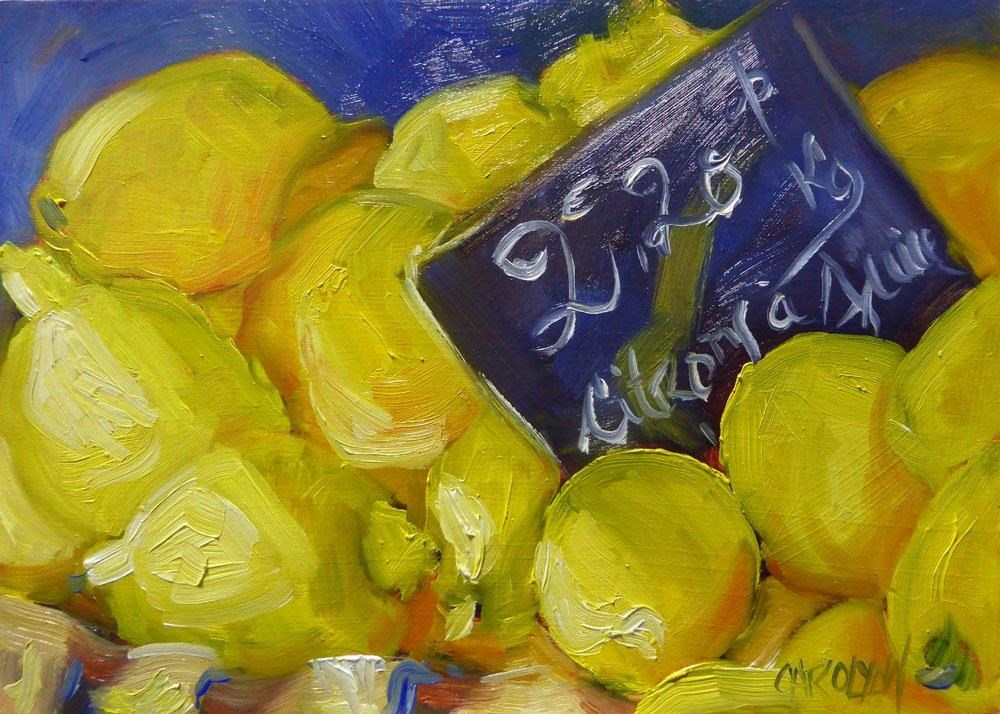 """Citrons a Jus"" original fine art by Carolynn Doan"