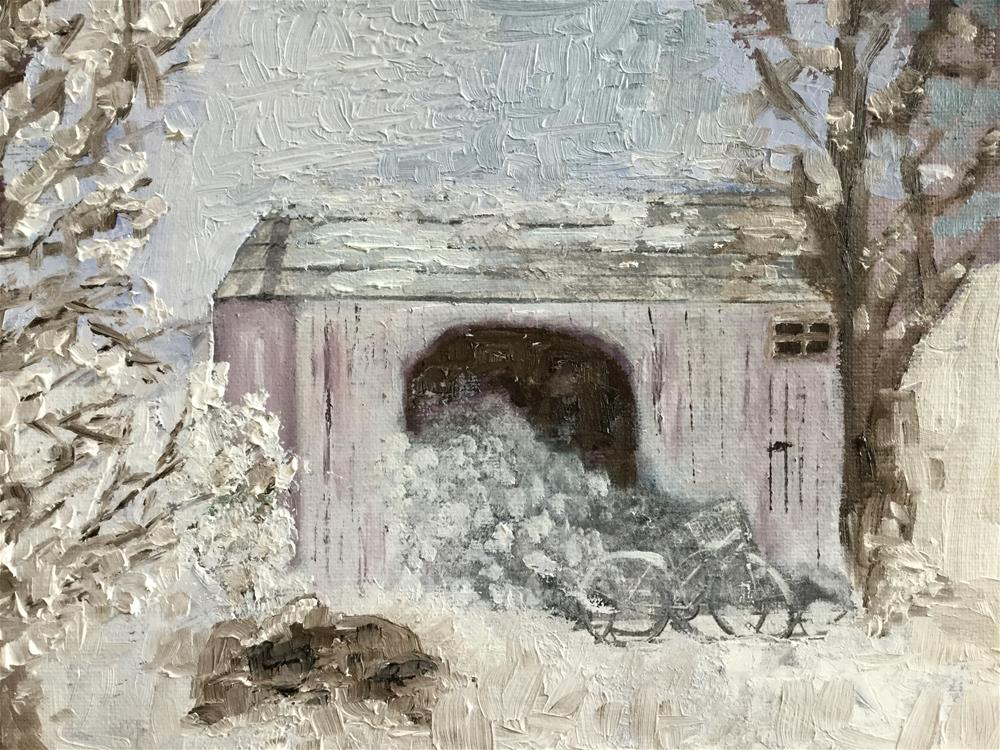 """The woodshed"" original fine art by pamela kish"